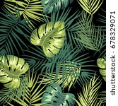 tropical leaves seamless... | Shutterstock .eps vector #678329071