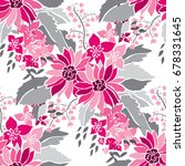 elegant seamless pattern with... | Shutterstock .eps vector #678331645
