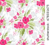 elegant seamless pattern with... | Shutterstock .eps vector #678331675