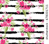 elegant seamless pattern with... | Shutterstock .eps vector #678331711