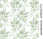 elegant seamless pattern with... | Shutterstock .eps vector #678331771