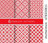 a pack of vintage pattern... | Shutterstock .eps vector #678333811