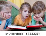 group of 5 year old kids... | Shutterstock . vector #67833394