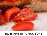 delicious bruschetta. close up... | Shutterstock . vector #678335071