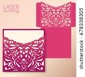 die laser cut wedding card... | Shutterstock .eps vector #678338305