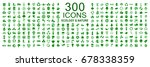 set of 300 ecology icons  ... | Shutterstock .eps vector #678338359