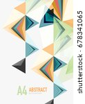 triangular low poly vector a4... | Shutterstock .eps vector #678341065