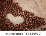 sign of the heart of the coffee ... | Shutterstock . vector #67834930