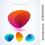 vector abstract logo design...   Shutterstock .eps vector #678349345