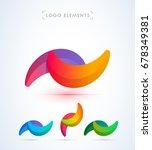 abstract logo design template.... | Shutterstock .eps vector #678349381