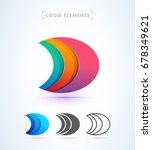 vector origami letter d logo.... | Shutterstock .eps vector #678349621