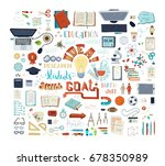 vector set of education... | Shutterstock .eps vector #678350989