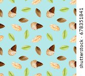 seamless pattern with... | Shutterstock . vector #678351841