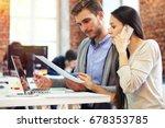 startup diversity teamwork... | Shutterstock . vector #678353785