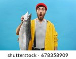 Astonished Bearded Fisherman...