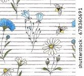 vector floral seamless pattern. ... | Shutterstock .eps vector #678360691