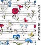 vector floral seamless pattern. ... | Shutterstock .eps vector #678360715