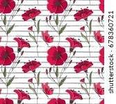 vector floral seamless pattern. ... | Shutterstock .eps vector #678360721