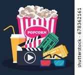 cinema concept poster template... | Shutterstock .eps vector #678362161