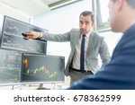 businessmen trading stocks... | Shutterstock . vector #678362599