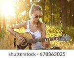Female Musician In Stylish...