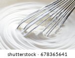 whipped cream and mixer | Shutterstock . vector #678365641