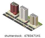 big set vector isometric... | Shutterstock .eps vector #678367141