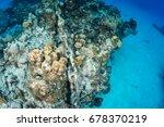 an anchor chain from a cruise... | Shutterstock . vector #678370219