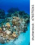an anchor chain from a cruise... | Shutterstock . vector #678370261