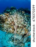 an anchor chain from a cruise... | Shutterstock . vector #678370399