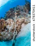 an anchor chain from a cruise... | Shutterstock . vector #678370411