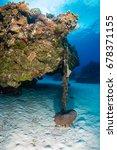 an anchor chain from a cruise... | Shutterstock . vector #678371155