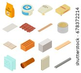 building materials icons set.... | Shutterstock .eps vector #678372214