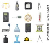 measure precision tools icons... | Shutterstock .eps vector #678372295