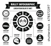 rally infographic banner... | Shutterstock .eps vector #678372397