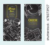 cheese top view  vertical... | Shutterstock .eps vector #678373927
