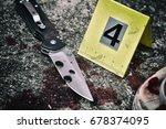 crime scene investigation ... | Shutterstock . vector #678374095