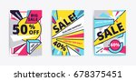 sale website banner template.... | Shutterstock .eps vector #678375451