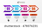infographic design template.... | Shutterstock .eps vector #678376231