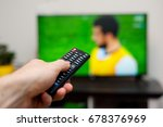 tv and remote controller | Shutterstock . vector #678376969