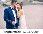 a happy beautiful wife with... | Shutterstock . vector #678379909