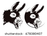 laughing donkey. vector... | Shutterstock .eps vector #678380407