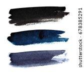 set of dark brush strokes... | Shutterstock . vector #678385291
