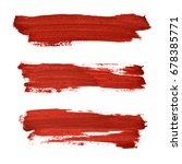 brush strokes of red acrylic... | Shutterstock . vector #678385771
