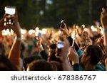 moscow 4 july 2017 big concert... | Shutterstock . vector #678386767