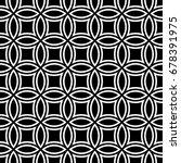 White Figures Tessellation On...