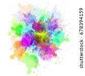 watercolor texture   abstract... | Shutterstock . vector #678394159