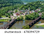 Aerial View Of Harpers Ferry ...