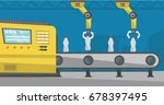 robotic arms working on the... | Shutterstock .eps vector #678397495