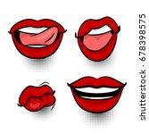 comics book girl face body part ... | Shutterstock .eps vector #678398575
